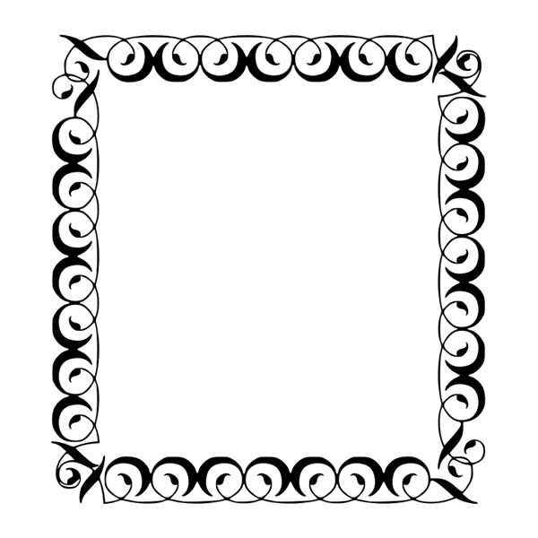 Filigree Square Border