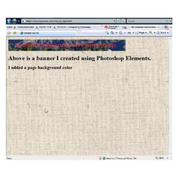 Creating An HTML Banner With Photoshop: Learn How To Make