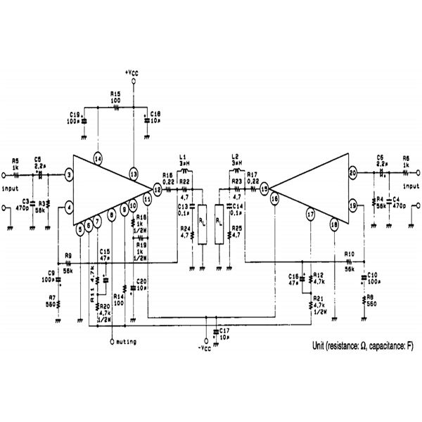 100   100 watt car stereo amplifier circuit diagram using