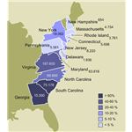 540px-Slavery in the 13 colonies