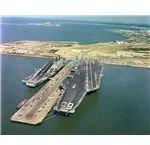 HMS Ark Royal and Nimitz by US Navy