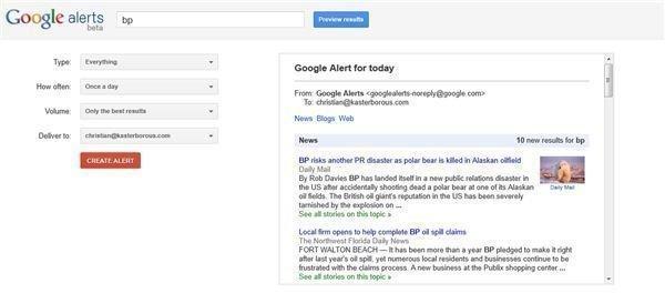Google Custom Alerts