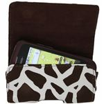Luxmo Giraffe Brown Horizontal Pouch