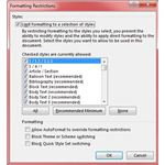 Figure 4: Formatting Restrictions