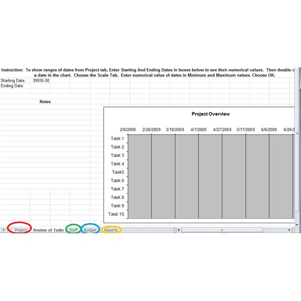 Pm Schedule Excel Template
