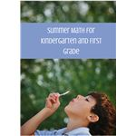 Summer Math for Kindergarten and First Grade