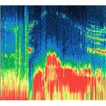 Spectrogram of magnetosphere of Ganymede