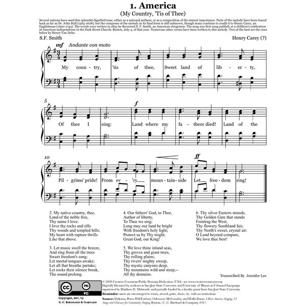 i hear america singing Download all mini-assessment for for i hear america singing by walt whitman and i, too, sing america by langston hughes (pdf) file type.
