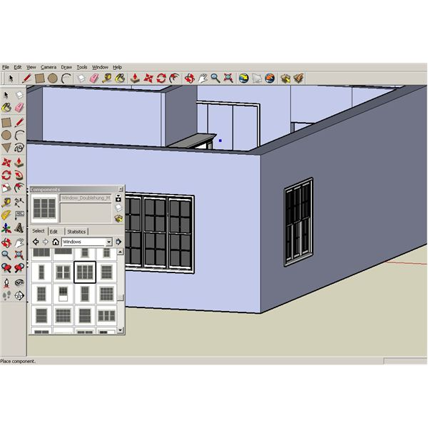 Google sketchup tutorials creating walls and a roof for for Sketchup door