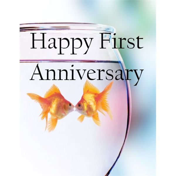 First Anniversary Card A ...  Print Your Own Anniversary Card