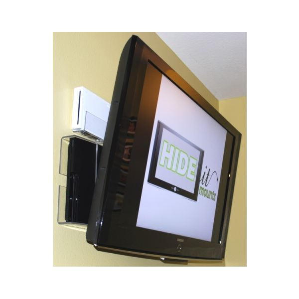 the hideit mount secretes consoles behind your tv cutting down on hanging cabline another way how to hide wires
