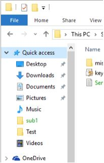 File Explorer's Quick Access