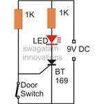 Door Intrusion Monitor Circuit Diagram, Image