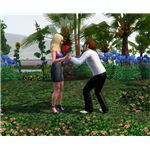 The Sims 3 giving red flowers at park