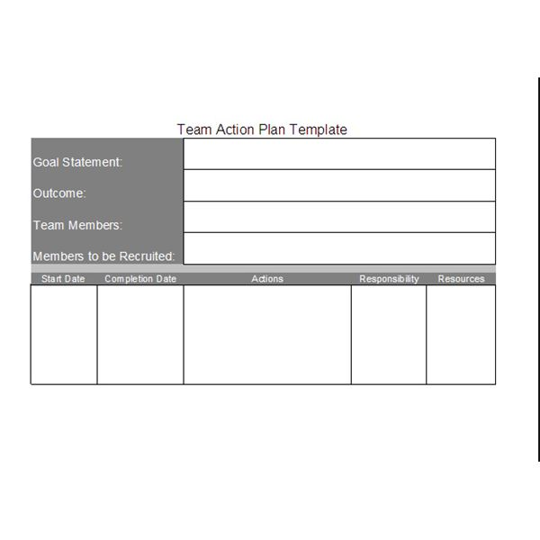 Project Action Plan Template Project Execution Their Team Action