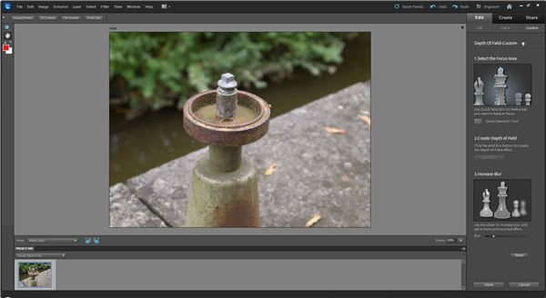Adding Depth of Field