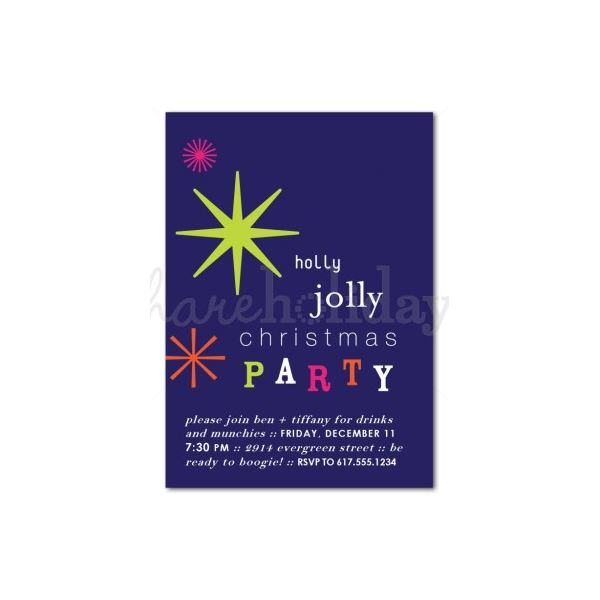 Holly Jolly Christmas Invitation This Template ...  Christmas Invitation Template
