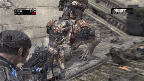 Bloodmounts in Gears of War 2
