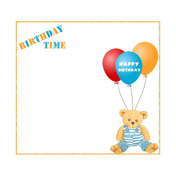 Free Birthday Borders for Invitations and Other Birthday Projects – Teddy Bear Birthday Invitation