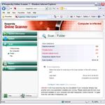 Infected Files Found by Kaspersky Online Virus Scan
