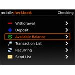 Mobile Checkbook -Checkbook management software for Blackberry-pic