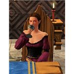 The Sims Medieval drinking wine