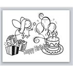 Little Girl's Birthday Card for Microsoft Publisher