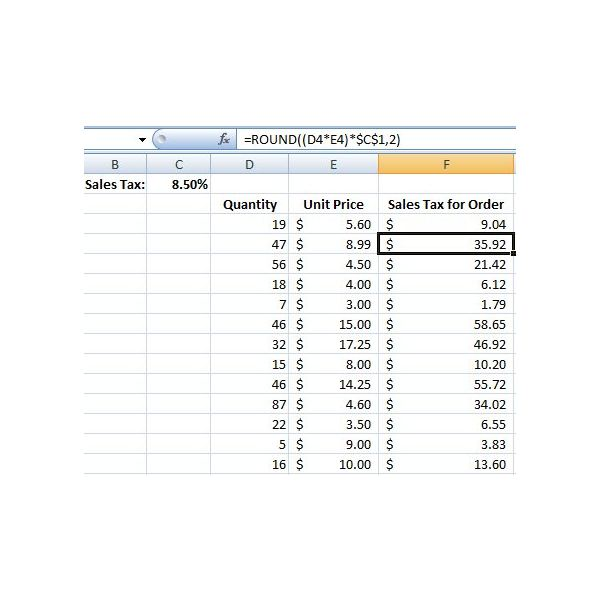 How To Copy A Formula With A Fixed Cell Reference In Excel