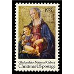 Stamp USA Christmas Madonna and Child 1975 Scott 1579