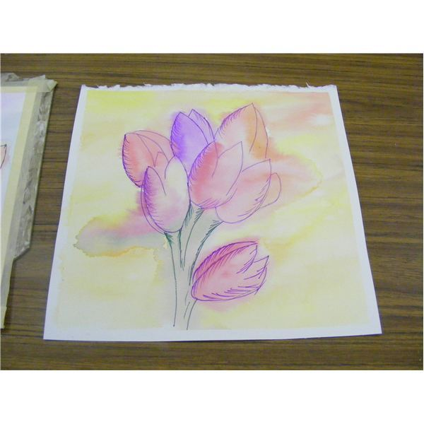 Easy watercolor art project for fall or spring leaves or for Watercolor painting and projects