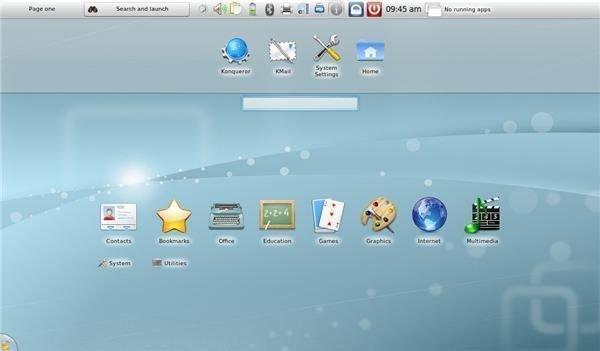 KDE: Netbook Style