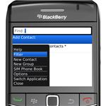 Blackberry Contacts Filter
