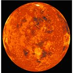 An image of Venus compiled from the Russian Venera 13 and 14 spacecraft