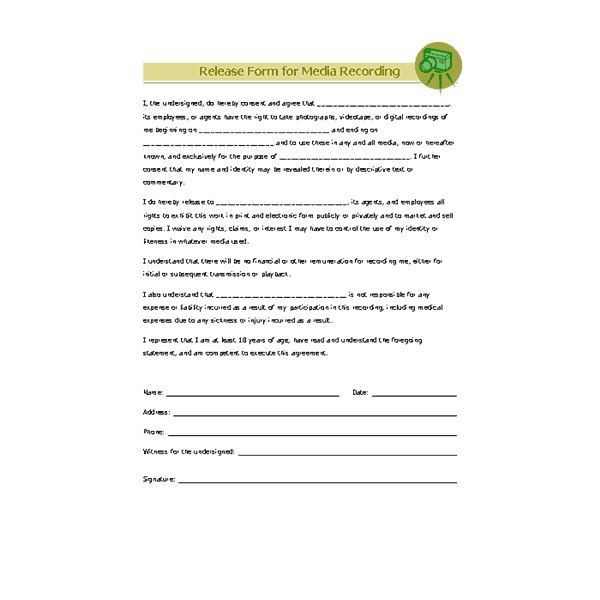 Print Release Forms. Photographers Print Release Form - Digital ...