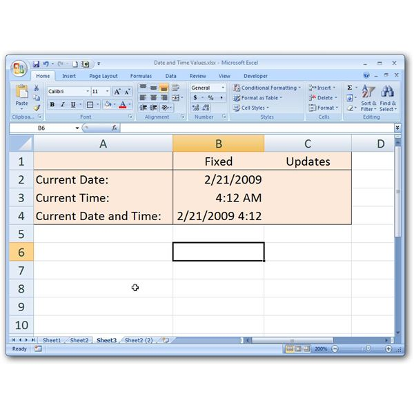 how to insert the current date and time into a microsoft excel spreadsheet. Black Bedroom Furniture Sets. Home Design Ideas