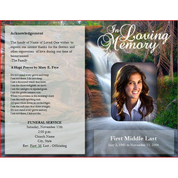 Six resources to find free funeral program templates to for Free funeral program template download 2010