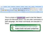 Saavvii Plug-In for Word