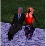 The Sims 3 vampire ghost watching the stars