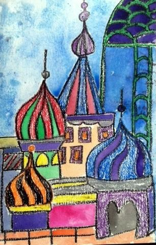 3rd Grade Art Lesson On Russian Architecture Inspired By