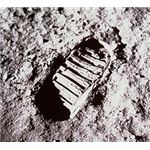 First Footprint on moon - NASA GOV