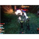 A guide to the Mage class in Dragon Age 2: Merril uses Firestorm.