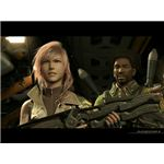 Lightning and Sazh in Final Fantasy XIII