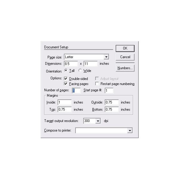 how to create a new document in pagemaker 7 0