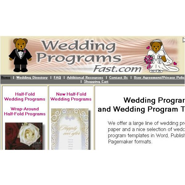 Save Money With Free Printable Wedding Programs: Three Online Sources