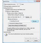 Figure1 - Outlook 2007 AutoArchive Settings