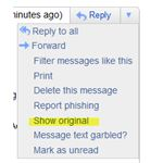 Show Original Message in Gmail