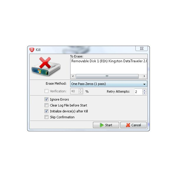 how to delete external hard drive