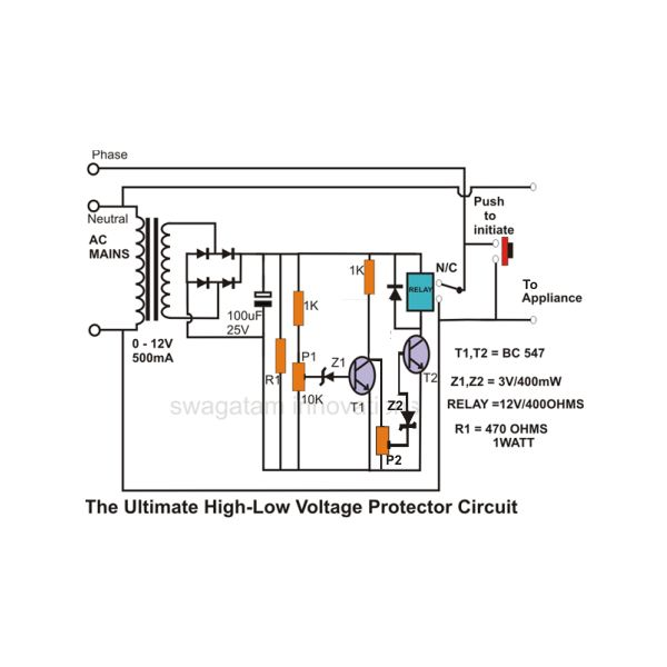 1474e77005bac2f6433a0e1bb8c2f314b970c3f8_large how to build simple mains voltage protection circuits low voltage wiring diagram of under voltage release at creativeand.co