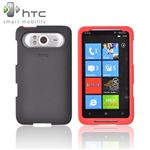 Original HTC HD7 HTC HD7s Rubberized Plastic Case Red-Black