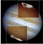 Jupiter auroras taken in ultraviolet by Hubble